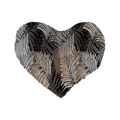 Floral Pattern Background Standard 16  Premium Flano Heart Shape Cushions by Simbadda