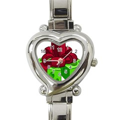 Cheese Green Heart Italian Charm Watch by Alisyart