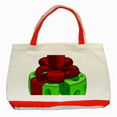 Cheese Green Classic Tote Bag (Red) by Alisyart