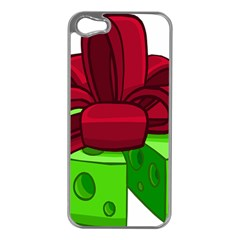 Cheese Green Apple Iphone 5 Case (silver) by Alisyart