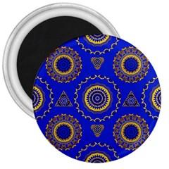Abstract Mandala Seamless Pattern 3  Magnets by Simbadda