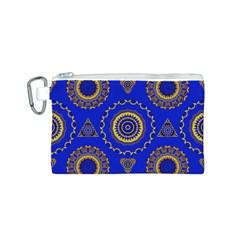 Abstract Mandala Seamless Pattern Canvas Cosmetic Bag (s) by Simbadda
