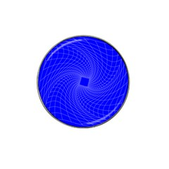 Blue Perspective Grid Distorted Line Plaid Hat Clip Ball Marker by Alisyart