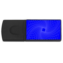 Blue Perspective Grid Distorted Line Plaid Usb Flash Drive Rectangular (4 Gb) by Alisyart