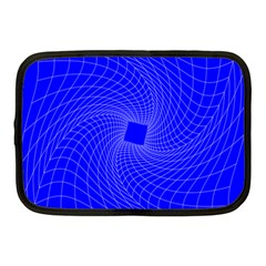 Blue Perspective Grid Distorted Line Plaid Netbook Case (medium)  by Alisyart