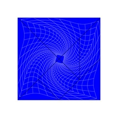 Blue Perspective Grid Distorted Line Plaid Acrylic Tangram Puzzle (4  X 4 ) by Alisyart