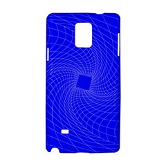 Blue Perspective Grid Distorted Line Plaid Samsung Galaxy Note 4 Hardshell Case by Alisyart