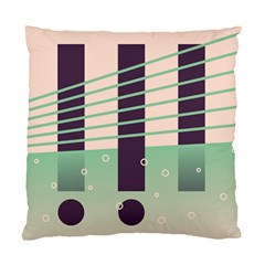 Day Sea River Bridge Line Water Standard Cushion Case (two Sides) by Alisyart