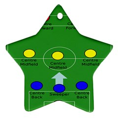 Field Football Positions Ornament (star) by Alisyart