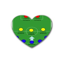 Field Football Positions Heart Coaster (4 Pack)  by Alisyart
