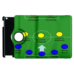 Field Football Positions Apple Ipad 3/4 Flip 360 Case by Alisyart