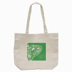 Fish Star Green Tote Bag (cream) by Alisyart