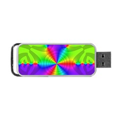 Complex Beauties Color Line Tie Purple Green Light Portable Usb Flash (two Sides) by Alisyart
