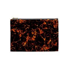 Fiery Ground Cosmetic Bag (medium)  by Alisyart