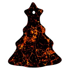 Fiery Ground Christmas Tree Ornament (two Sides) by Alisyart