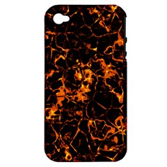 Fiery Ground Apple Iphone 4/4s Hardshell Case (pc+silicone) by Alisyart