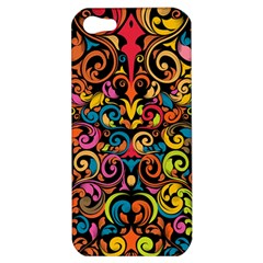 Chisel Carving Leaf Flower Color Rainbow Apple Iphone 5 Hardshell Case by Alisyart