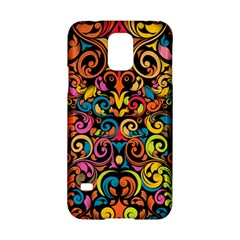 Chisel Carving Leaf Flower Color Rainbow Samsung Galaxy S5 Hardshell Case  by Alisyart