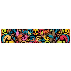 Chisel Carving Leaf Flower Color Rainbow Flano Scarf (small) by Alisyart