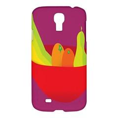 Fruitbowl Llustrations Fruit Banana Orange Guava Samsung Galaxy S4 I9500/i9505 Hardshell Case by Alisyart