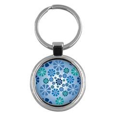 Geometric Flower Stair Key Chains (round)  by Alisyart