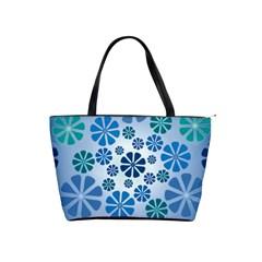 Geometric Flower Stair Shoulder Handbags by Alisyart