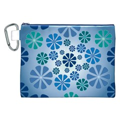 Geometric Flower Stair Canvas Cosmetic Bag (xxl) by Alisyart