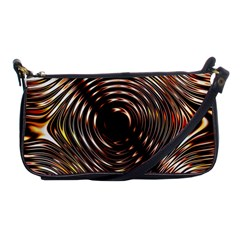Gold Waves Circles Water Wave Circle Rings Shoulder Clutch Bags by Alisyart