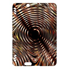 Gold Waves Circles Water Wave Circle Rings Kindle Fire Hdx Hardshell Case by Alisyart