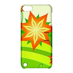 Graphics Summer Flower Floral Sunflower Star Orange Green Yellow Apple Ipod Touch 5 Hardshell Case With Stand by Alisyart