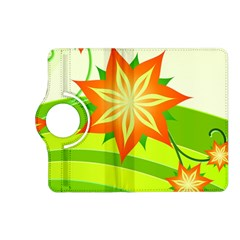 Graphics Summer Flower Floral Sunflower Star Orange Green Yellow Kindle Fire Hd (2013) Flip 360 Case by Alisyart