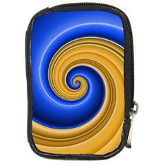 Golden Spiral Gold Blue Wave Compact Camera Cases by Alisyart