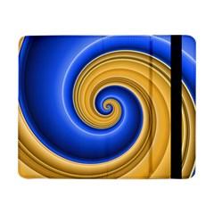 Golden Spiral Gold Blue Wave Samsung Galaxy Tab Pro 8 4  Flip Case by Alisyart