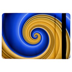 Golden Spiral Gold Blue Wave Ipad Air 2 Flip by Alisyart