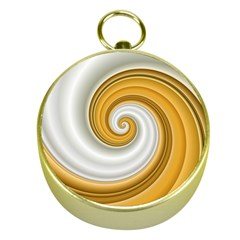 Golden Spiral Gold White Wave Gold Compasses by Alisyart