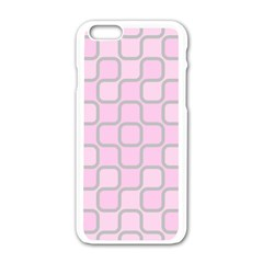 Light Pastel Pink Apple Iphone 6/6s White Enamel Case by Alisyart