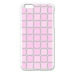 Light Pastel Pink Apple Iphone 6 Plus/6s Plus Enamel White Case by Alisyart