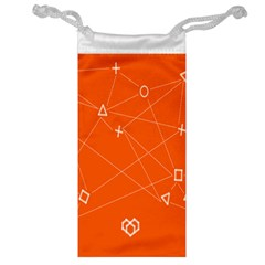 Leadership Deep Dive Orange Line Circle Plaid Triangle Jewelry Bag by Alisyart