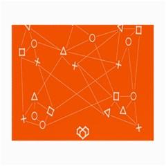 Leadership Deep Dive Orange Line Circle Plaid Triangle Small Glasses Cloth (2 Side) by Alisyart