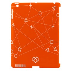 Leadership Deep Dive Orange Line Circle Plaid Triangle Apple Ipad 3/4 Hardshell Case (compatible With Smart Cover) by Alisyart