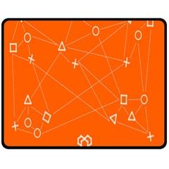Leadership Deep Dive Orange Line Circle Plaid Triangle Double Sided Fleece Blanket (medium)  by Alisyart
