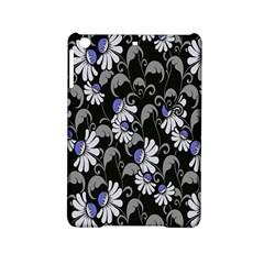 Flourish Floral Purple Grey Black Flower Ipad Mini 2 Hardshell Cases by Alisyart