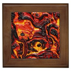 Lava Active Volcano Nature Framed Tiles by Alisyart