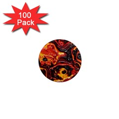 Lava Active Volcano Nature 1  Mini Magnets (100 Pack)  by Alisyart