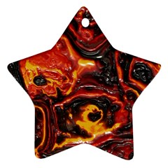 Lava Active Volcano Nature Star Ornament (two Sides) by Alisyart