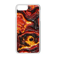 Lava Active Volcano Nature Apple Iphone 7 Plus White Seamless Case by Alisyart