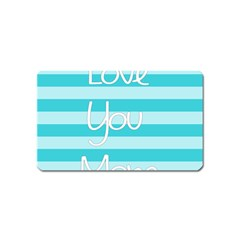 Love You Mom Stripes Line Blue Magnet (name Card) by Alisyart