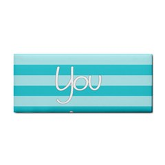 Love You Mom Stripes Line Blue Cosmetic Storage Cases by Alisyart