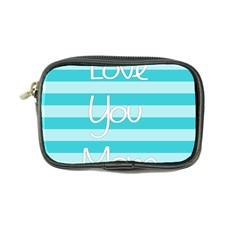 Love You Mom Stripes Line Blue Coin Purse by Alisyart