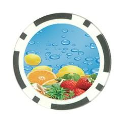 Fruit Water Bubble Lime Blue Poker Chip Card Guard by Alisyart